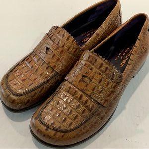 Donald J Pliner Crocodile Vero Cuoio Loafers 9